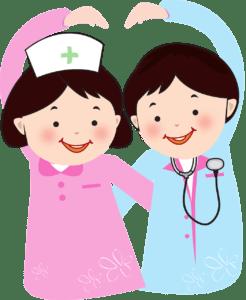 Arzt und Krankenschwester