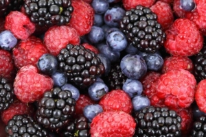 Rote Beeren, Blaubeeren, Himbeeren, Brombeeren
